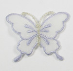 """Iron On Patch Applique - Butterfly 2 1/4"""" Sheer Wing Lavender"""
