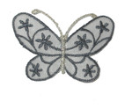 """Iron On Patch Applique - Butterfly 2 1/4"""" Sheer Flower Wing Butterfly"""