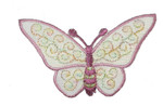 """Iron On Patch Applique - Butterfly 3"""" Sheer Plum"""