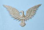 "Iron On Patch Applique - Eagle Metallic Silver 2"""
