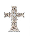 Rhinestud Applique - Cross