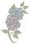 Rhinestud Applique - Flower Spray Roses