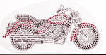 Rhinestud Applique - Motor Cycle