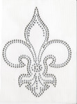 Rhinestud Applique -  Fleur De lys