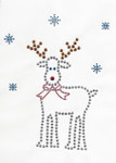 Rhinestud Applique - Reindeer