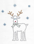 Rhinestud Applique - Reindeer.