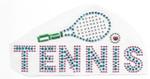 Rhinestud Applique - Tennis