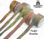 """Jacquard Ribbon 1"""" Tudor Rosette"""
