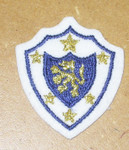 Iron On Patch Applique - White Crest with Golden Lion