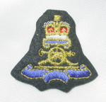 Iron On Patch Applique - Crest Crown & Cannon