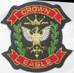 Iron On Patch Applique - Crown Eagle Crest
