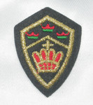 Iron On Patch Applique - Crest with Crowns.