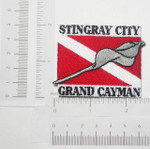Iron On Patch Applique - Stingray City GRAND CAYMAN