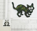 Iron On Patch Applique - Sparkly Halloween Cat