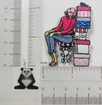 Iron On Patch Applique - Shoe Shopping Lady Small