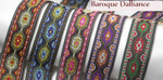 "Jacquard Ribbon 1"" Baroque Dalliance"