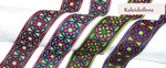 """Jacquard Ribbon 1 9/16"""" (40mm) Kaleidoflora per Yard"""