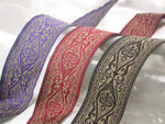 "Jacquard Ribbon -  1 1/2"" (38.1mm) Tan & *Colors*"