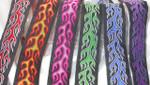 """Jacquard Ribbon 1 1/2"""" (38mm) Flame Design *Colors*"""