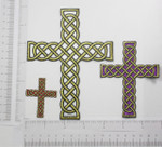 Iron On Patch Applique - Celtic Rope Cross