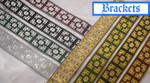 "Jacquard Ribbon 1 5/16"" (33mm) Brackets *Colors*"