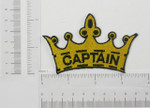 Iron On Patch Applique - Captain in Crown