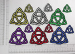 Iron On Patch Applique - Triquetra *Sizes* *Colors*