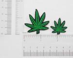 Iron On Patch Applique - Marijuana Pot Leaf *Sizes*