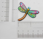 """Iron On Patch Applique - Sparkle Dragonfly 1 7/8"""""""