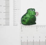 Iron On Patch Applique - Shiny Green Frog