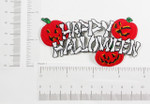 Iron On Patch Applique - Happy Halloween with Pumpkins