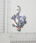 Iron On Patch Applique - Treble G Cleft with Sequins