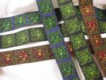 "Jacquard Ribbon 1 3/8"" (33mm) The Green Man *Colors*"
