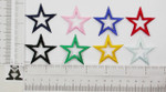 "Iron On Patch Applique - Open Star 1 5/8"" (41.27mm) *Colors*"
