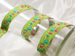 "Jacquard Ribbon 7/8"" (22mm) Early Blooms Priced Per Yard"