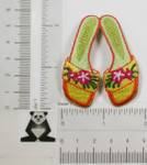 Iron On Patch Applique Beach Sandals Flip Flops Floral