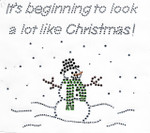 Rhinestud Applique - Its Beginning to Look a Lot Like Christmas Snowman