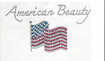 Rhinestud Applique - American Beauty
