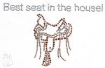 """Rhinestud Applique - """"Best seat in the House"""" Saddle"""