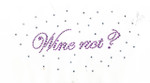 "Rhinestud Applique - ""Wine Not?"""