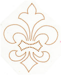 Rhinestud Applique - Fleur de Lys Gold