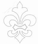 Rhinestud Applique - Fleur de Lys Silver