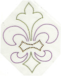 Rhinestud Applique - Fleur de Lys Multi Mardi Gras