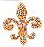 Rhinestud Applique - Fleur de Lys Brass
