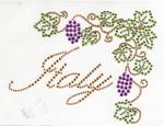 Rhinestud Applique - Italy Grape vines