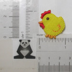 "Iron On Patch Applique - Yellow Chick 1 1/8"" high"