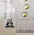 Stud Applique - Paw Print Gold Mini - 4 pack