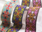 "Jacquard Ribbon 1 5/8"" (41.mm) Renaissance Style  Per Yard *Colors**"