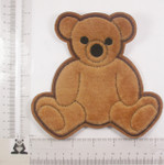 "Sew On Applique - Furry Bear 6"" high"