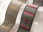"Jacquard Ribbon 1 9/16"" (39.6mm) Tapestry Design *Colors* Per Yard"
